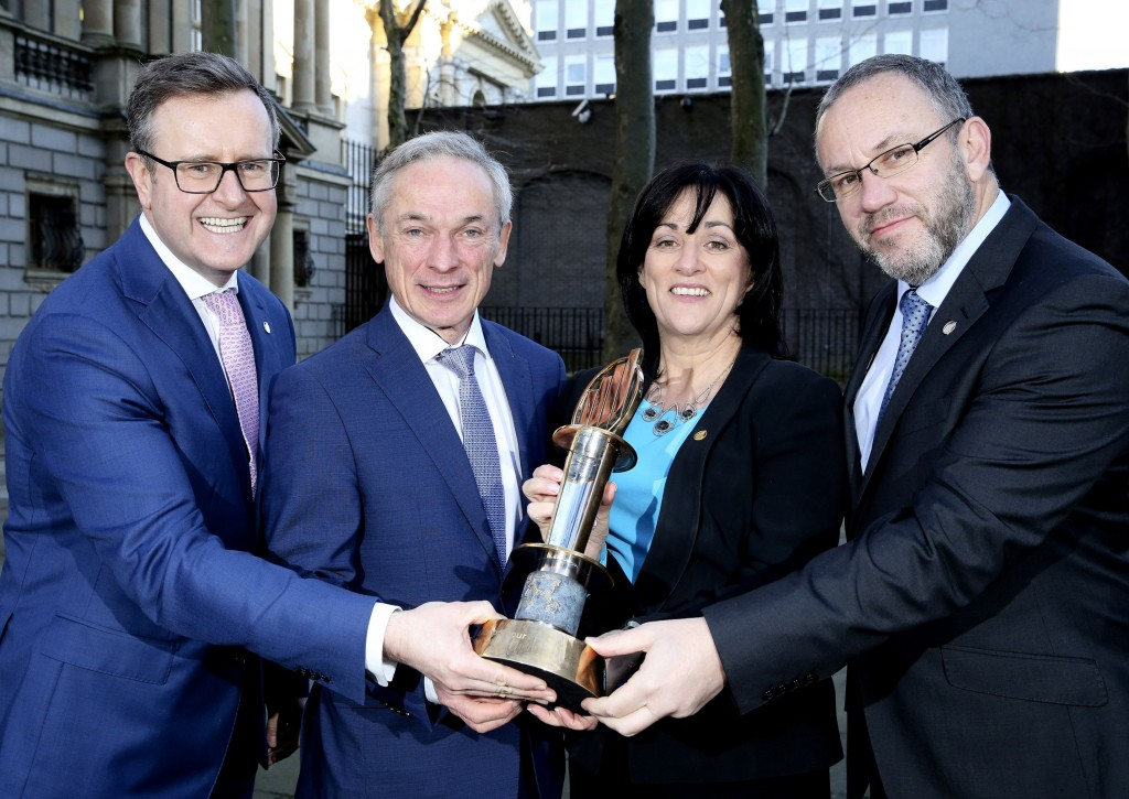 Pictured at the launch of The EY Entrepreneur Of The Year™ 2016 programme are: Sean Duffy, EOY, Programme Director, Minister Richard Bruton, T.D, Anne Heraty of Cpl Resources plc and Kevin McLoughlin, Partner Lead for EY Entrepreneur Of the Year