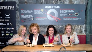 Ciara Troy, founder of Oishii Sushi, Julie O'Neill, Strategic Management Consultant at Join the Dots, Edel Creely, Group Managing Director at Trilogy Technologies and Karen Frawley, Partner, Deloitte
