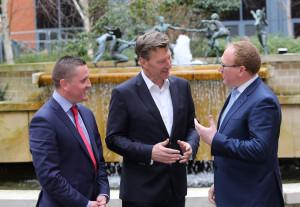 Pictured at NexusUCD are Conor O'Byrne, CEO, RelateCare, Oliver Tattan, Chair of the ARCH Centre Steering Committee and Brendan Casey, CEO, swiftQueue