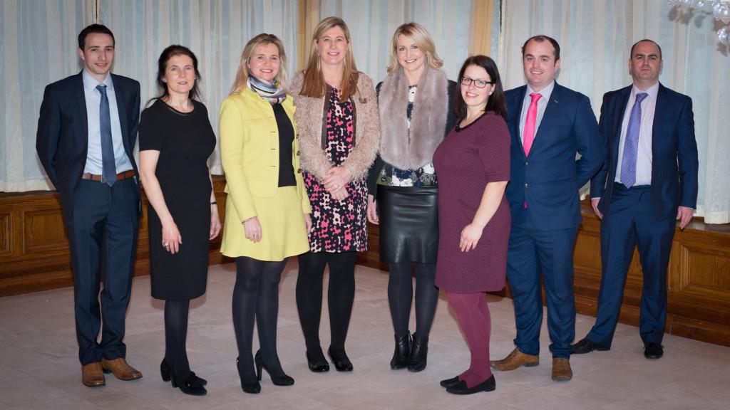Pictured at the regional chamber networking evening in the Oakwood Arms Hotel, Shannon (from left): Cillian Griffey, Shannon Chamber Skillnet (sponsor); Anne Morris, Limerick Chamber Skillnet (sponsor);  Eithne  O'Riordan, Bbnet (sponsor); Maura McMahon, Limerick Chamber; Anne McCabe, president, Ennis Chamber; Lijana Kizaite, Shannon Chamber; Declan Ryan, Cantor Fitzgerald (sponsor): Enda O'Halloran, Campion Insurance(sponsor). Photo: Shauna Kennedy.