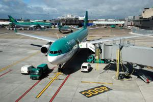 Dublin Airport - Aer Lingus aircraft on the apron at Dublin Airport