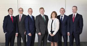 REPRO FREE 6/7/2016 EMBARGOED UNTIL 01.00 on 7/7/2016 EY Ireland has today announced the appointment of six Partners, bringing the total number of Partners within the Irish business to 61.  Reflecting the strong client demand for its advisory services, EY has promoted two new Partners within its Performance Improvement business - Marcus Gageby and Barry McCarthy - while Niamh O'Beirne has been promoted to Partner within People Advisory Services. Within its tax division, EY has promoted Cork-based Seamus Downey, underlining the Firm's continued investment in the Munster region, as well as Ian Collins who heads up EY's Research & Development team. High growth sectors which are core to Ireland's sustained economic prosperity such as life sciences, are also key areas of investment for EY, reflected by the Firm's appointment of Feargal De Freine as Assurance (audit) Partner from Baxter Healthcare. Pictured (l-r) at the announement are Seamus Downey, Marcus Gageby, Ian Collins, Mike McKerr (Managing Partner), Niamh O'Beirne, Fergal De Freine and Barry McCarthy. © Patrick Bolger Photography