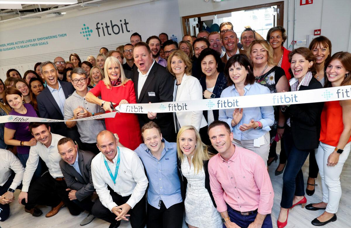 31/08/2016 NO REPRO FEE, MAXWELLS DUBLIN Pictured at Fitbit's new Dublin office are Woody Scal, Chief Business Offce at Fitbit,James Park, CEO of Fitbit, Mary Mitchell O'Connor, Minister of Jobs, Enterprise and Innovation, Des Power, Managing Director, Europe, Middle East, Africa, at Fitbit and Mary Buckley, Executive Director at IDA Ireland. The new office based at 76 Baggot Street will serve as Fitbit's EMEA headquarters and will house the strategic business functions for the region, including senior management roles, sales, marketing, operations, finance and customer support staff. The company hopes to grow to approximately 50 people by the end of the year with the potential to grow to 100 by the end of 2017. Fitbit pioneered the connected health and fitness market starting in 2007, and since then, has grown into a leading global health and fitness brand, shipping over 48.7 million devices globally. PIC: NO FEE, MAXWELLPHOTOGRAPHY.IE