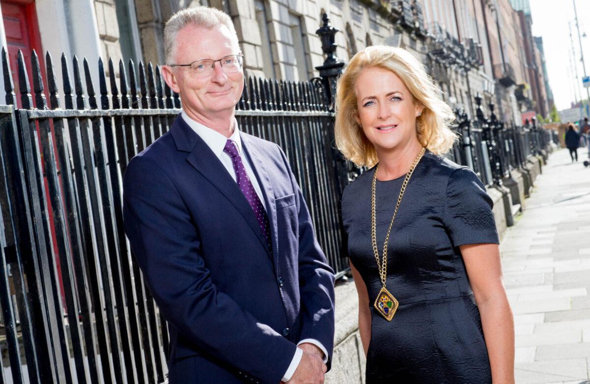 Niamh Boyle, President of Chambers Ireland with Ian Talbot, CEO, Chambers Ireland